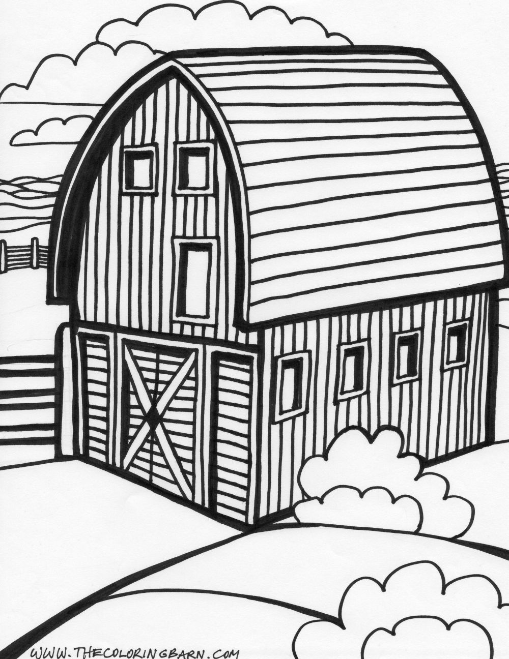 Barn Church House Black And White Clipart - Clipground-1598