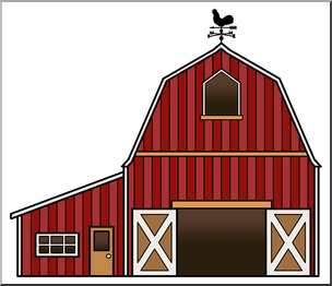 Clip Art: Barn Color 2 I abcteach.com.
