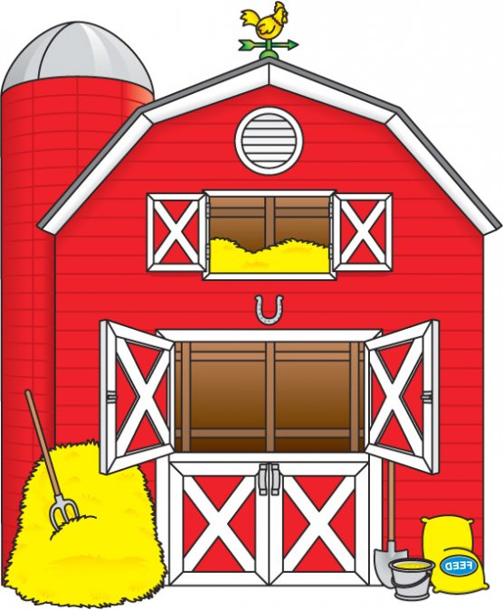 Red Barn Clipart.