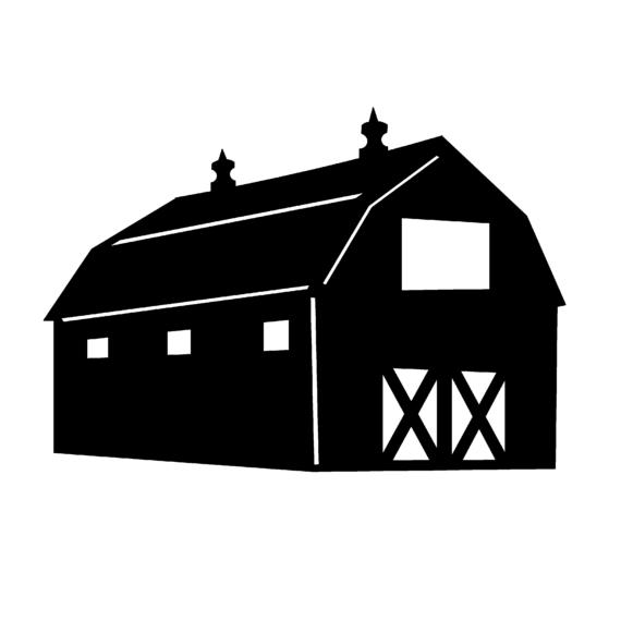 Barn Clipart Silhouette Clipground