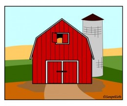Barn door clipart.