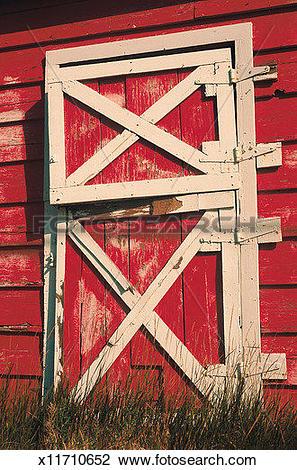 Stock Photo of Farm, Barn, Door, Daylight, Building, Architecture.