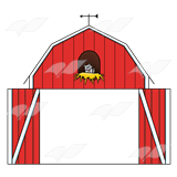 Red Barn Door Clipart.
