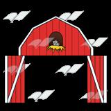 Red Barn Door Clipart.