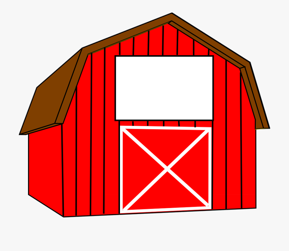 Interesting Red Barn Doors Clip Art And Peekaboo Barn.
