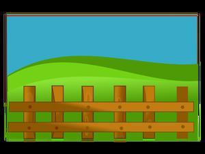 621 farm fence clipart.