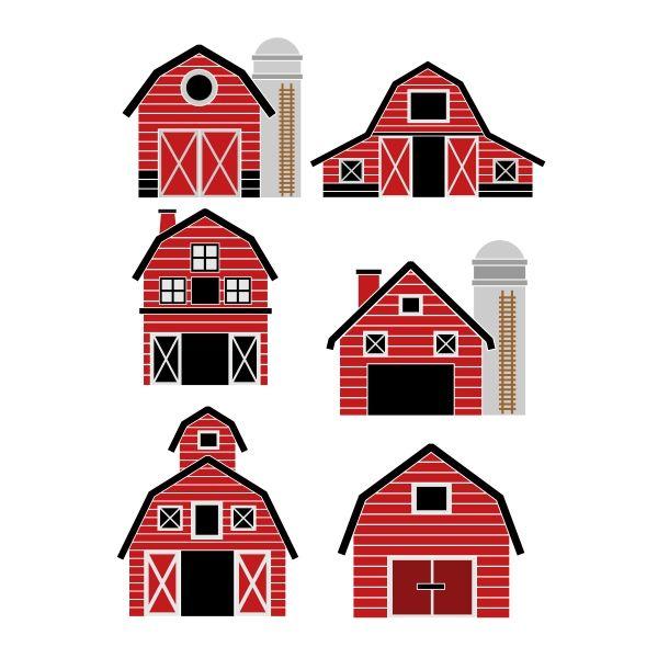 Barn House SVG Cuttable Design.