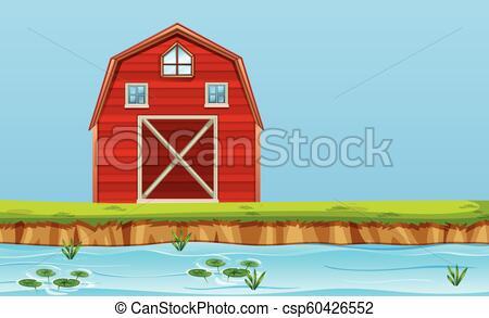A rural barn house.