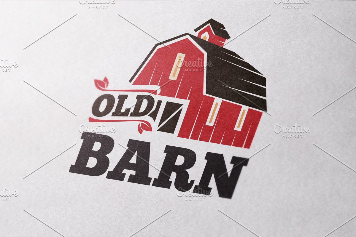 Old Barn Logo Template ~ Logo Templates ~ Creative Market.