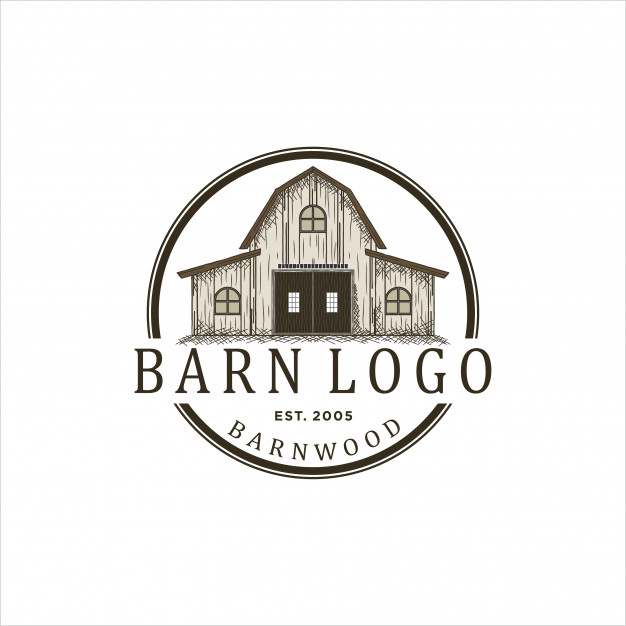 Logo design for barn wood Vector.
