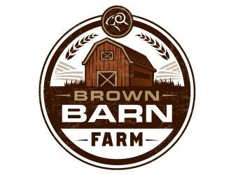 Brown Barn Farm logo design.