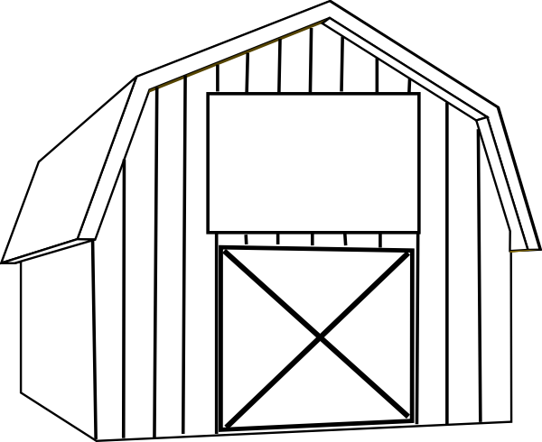 free barn clip art black and white.