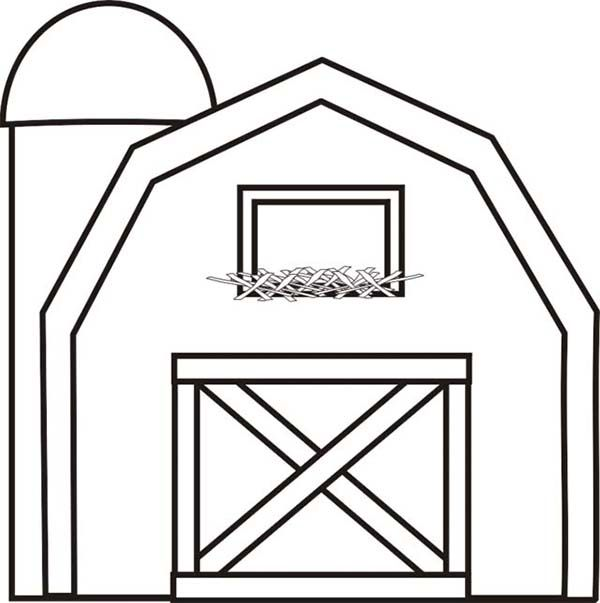 barn outline Barn with silo coloring page barns jpg.