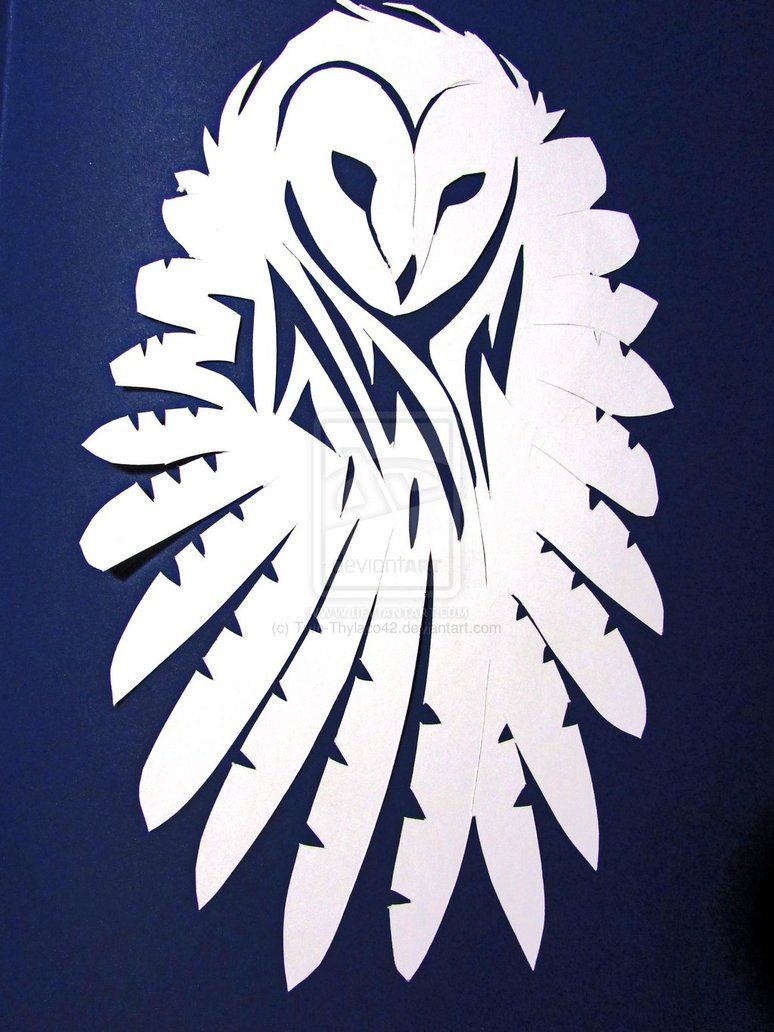 Flying Owl Silhouette , Simple Owl Stencil , Flying Owl Outline.
