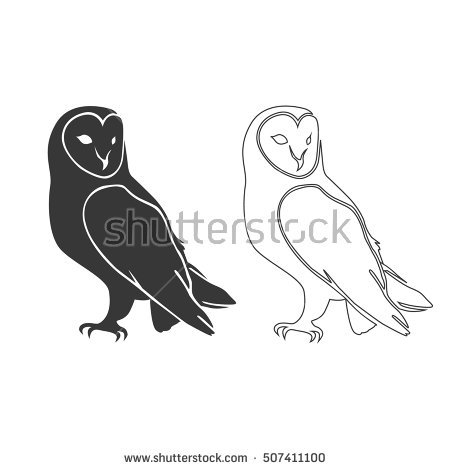 Barn Owl Silhouette.