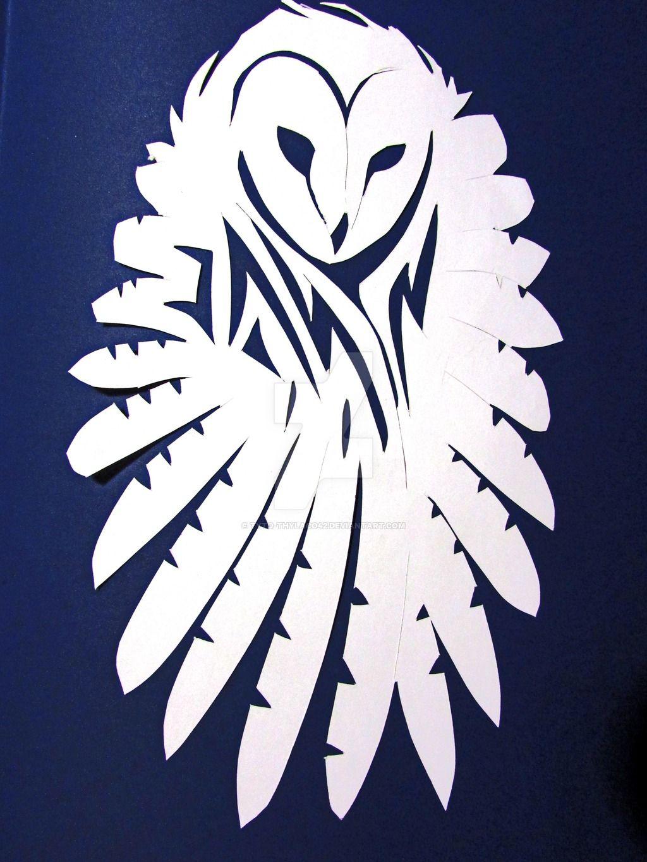 barn owl wings stencil.