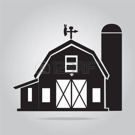 barn silhouette: Building icon.