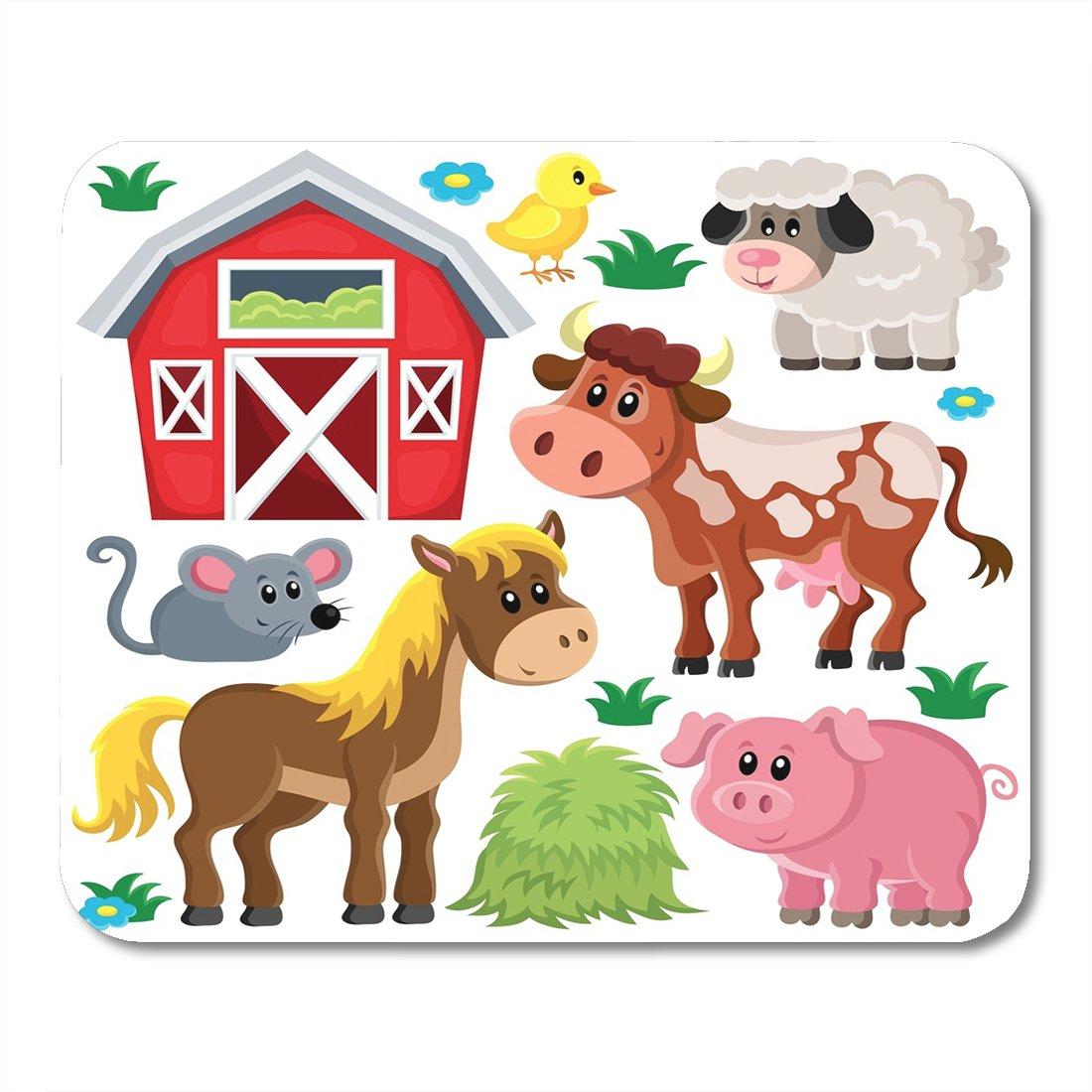 Amazon.com : Nakamela Mouse Pads Barn Cute Farm Animals.