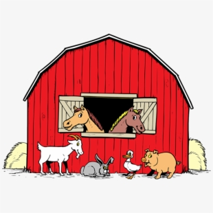 Barn With Animals Clipart , Transparent Cartoon, Free.