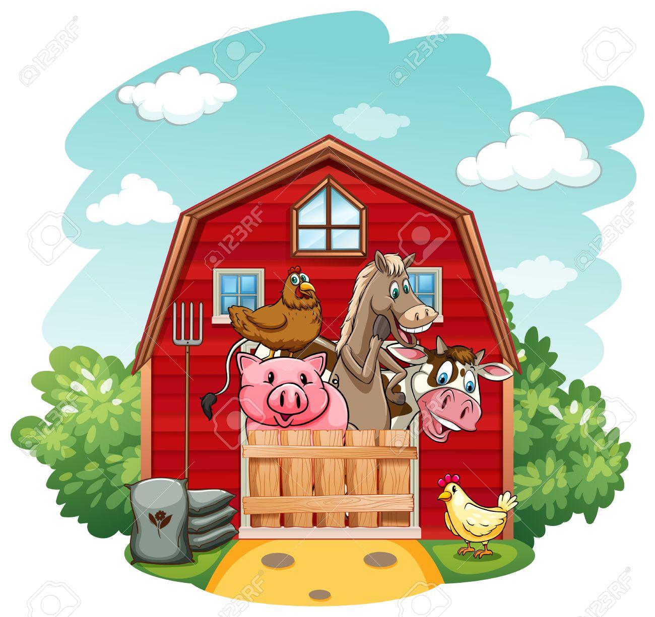 2220 Farm Animals free clipart.