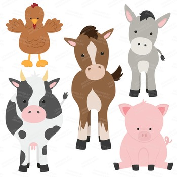 Premium Farm Animals Clip Art & Vectors.