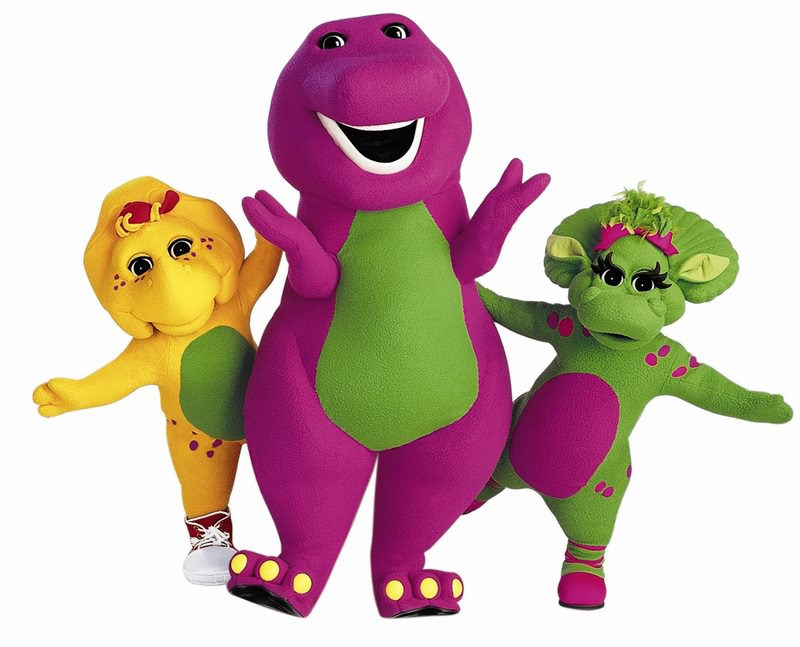 Children Of The 90s Barney Dinosaur clipart free image.