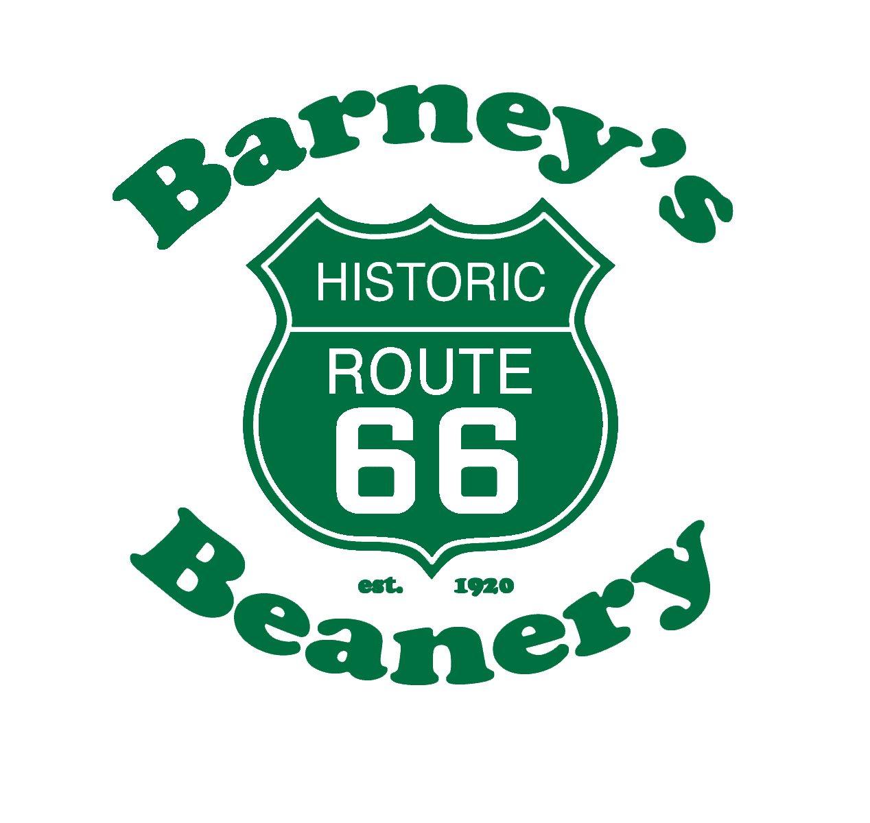 Barneys Logo Green • Barney\'s Beanery.