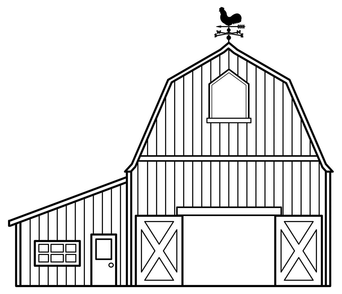Barn Scenes Clipart.