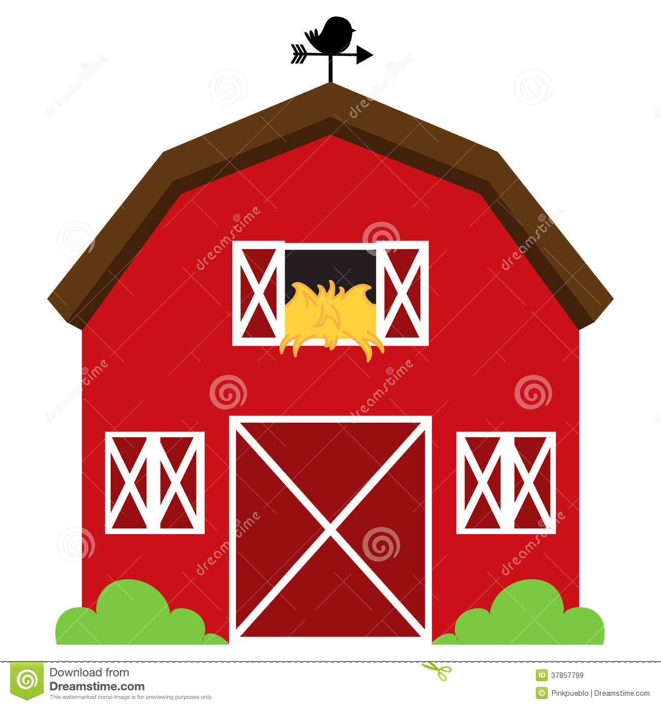 Red barns clipart.