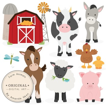 Premium Farm Animals Clip Art & Vectors.