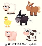 Farm Animals Clip Art.