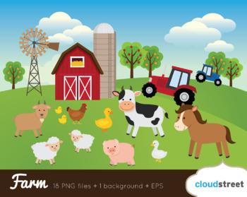 Cloudstreetlab: Farm Animals, Barnyard Clip Art.