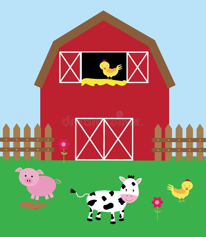 Barnyard Stock Illustrations.