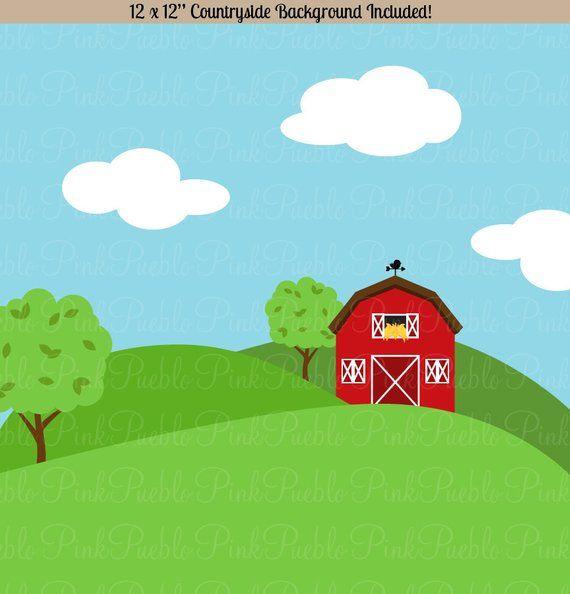 Farm Animals Clipart, Farm Animals Clip Art, Barnyard Clipart.