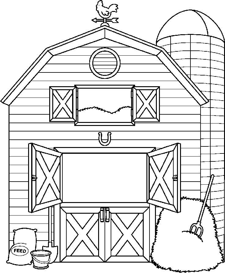 Farm House Clipart Black And White.
