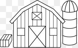 Black And White Farm Barn PNG and Black And White Farm Barn.