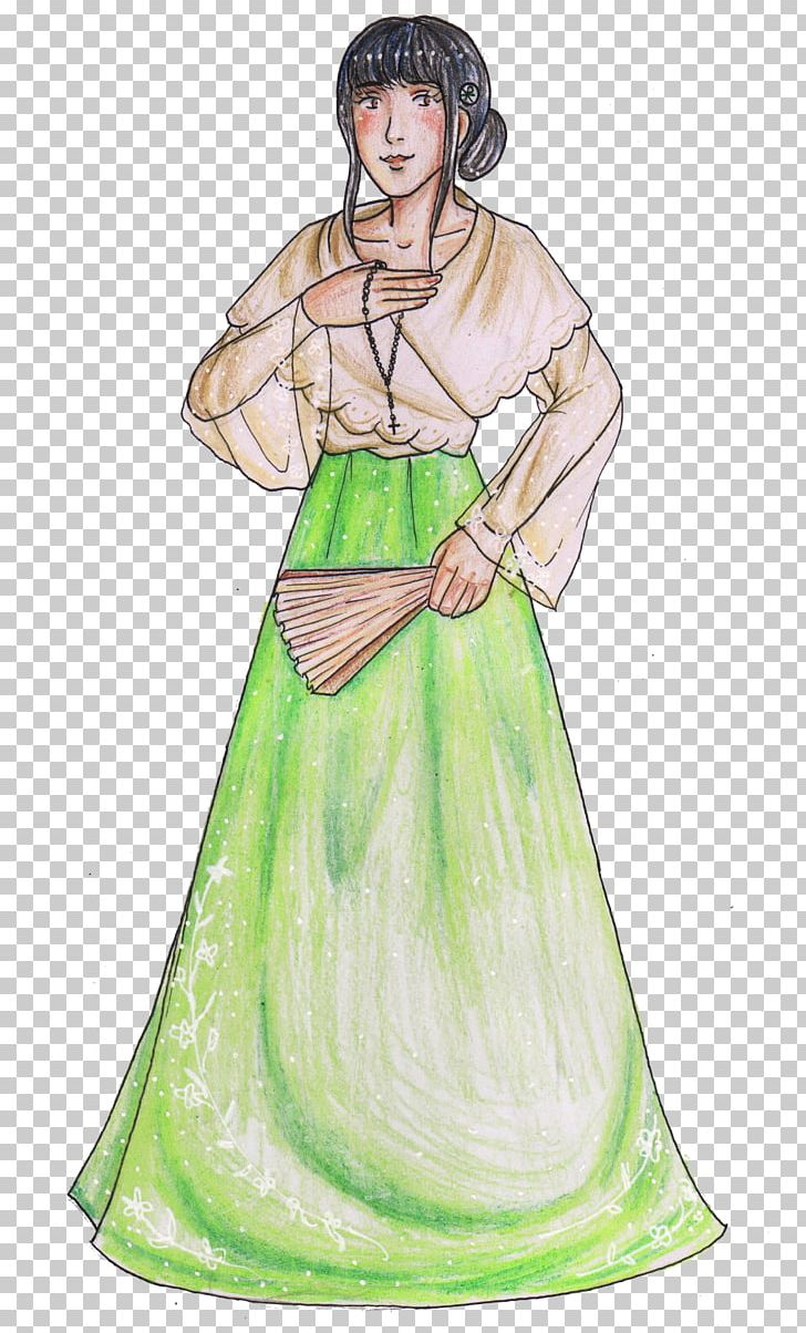 Philippines Costume Baro't Saya Drawing Language PNG.