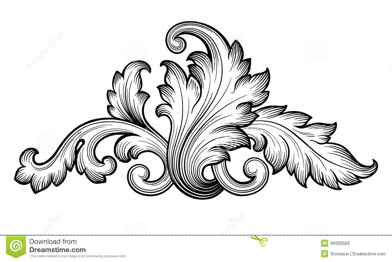 Free baroque clip art.