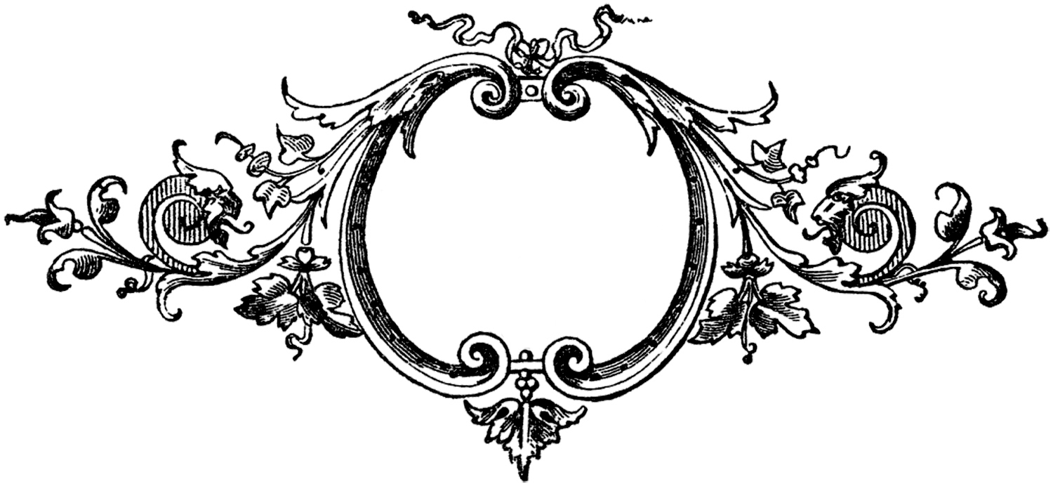 Baroque frame clipart free.