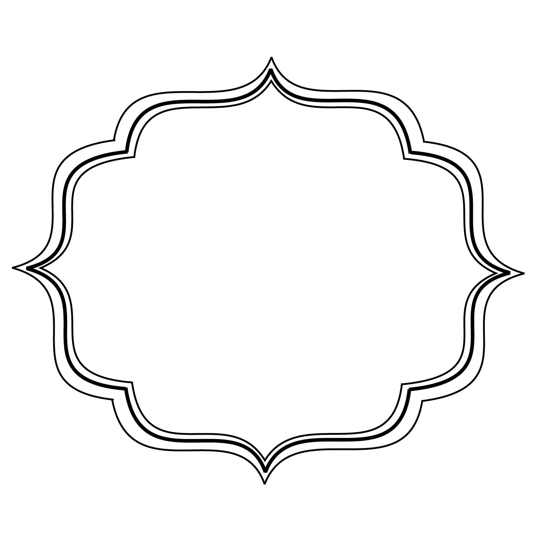 black scroll frame clipart #3