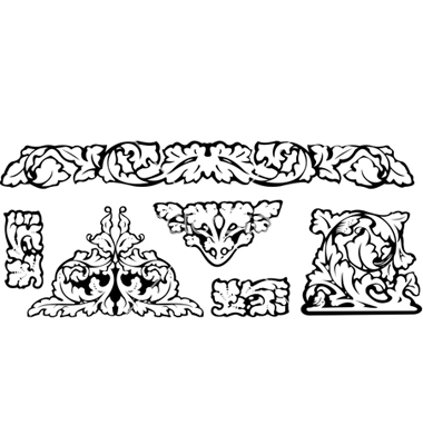 Baroque clipart vector by AZZ.