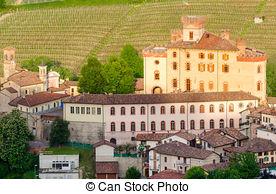 Stock Photographs of Falletti di Barolo Castle, Barolo, Piedmont.