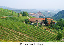 Stock Photo of Town of Barolo, Italy..