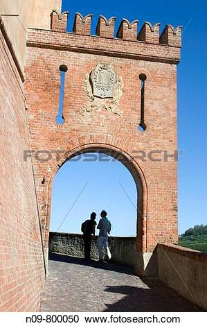 Stock Photography of Barolo, Province of Cuneo, Piedmont, Italy.