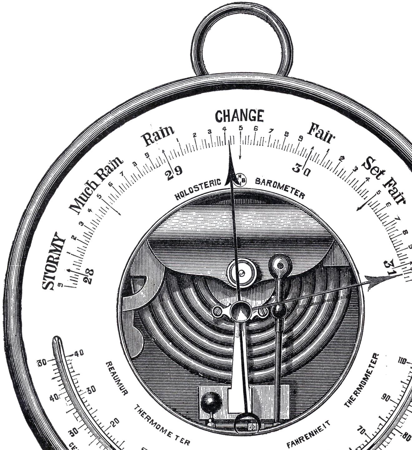 Clip art barometer.