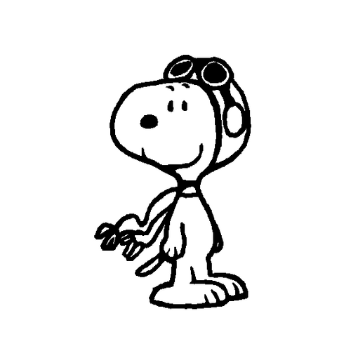 Snoopy red baron clipart.