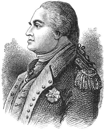 Baron von Steuben lineart.