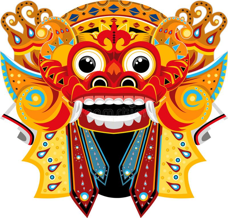 Illustration about Barong Bali by imagemakerID. Illustration.