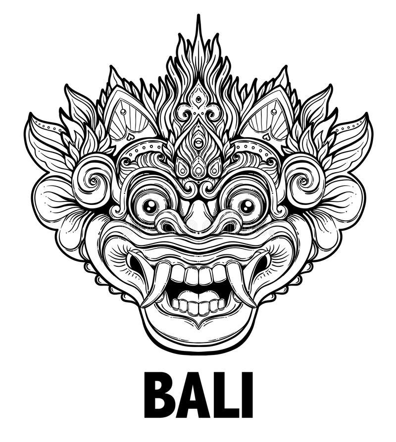 Barong Bali Stock Illustrations.