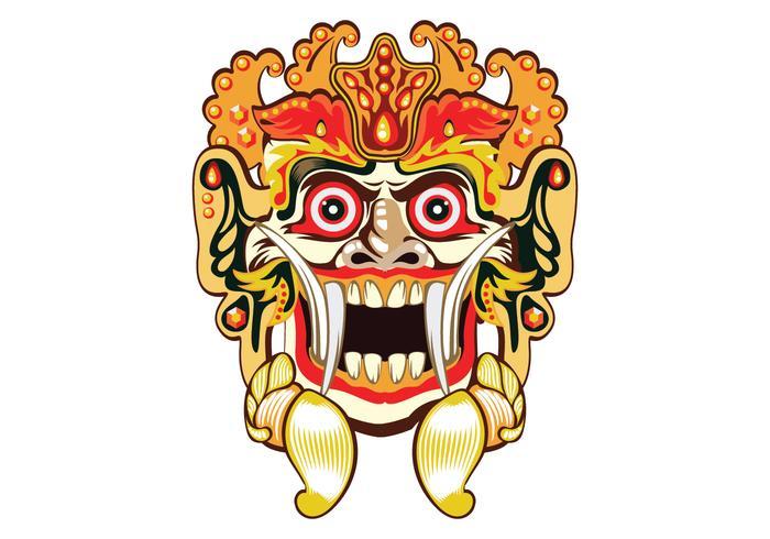 Barong Bali Mask Vector.